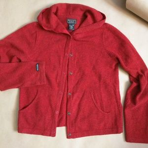 Abercrombie & Fitch cardigan in dark red Lambswool